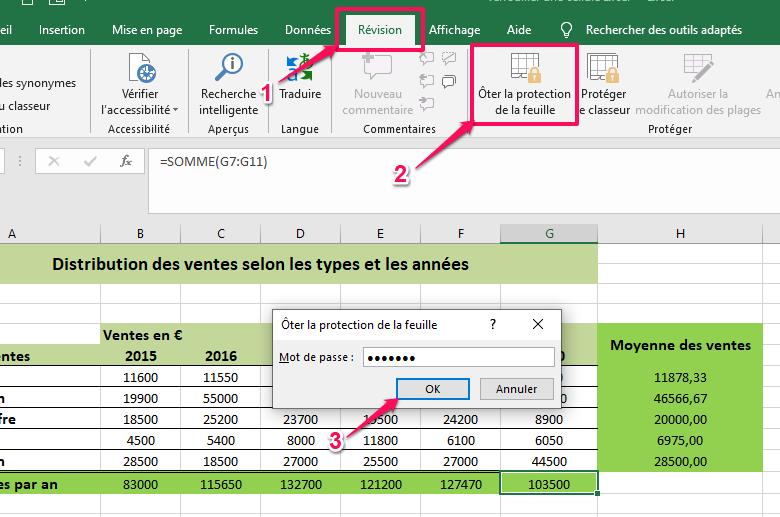 protéger un fichier Excel